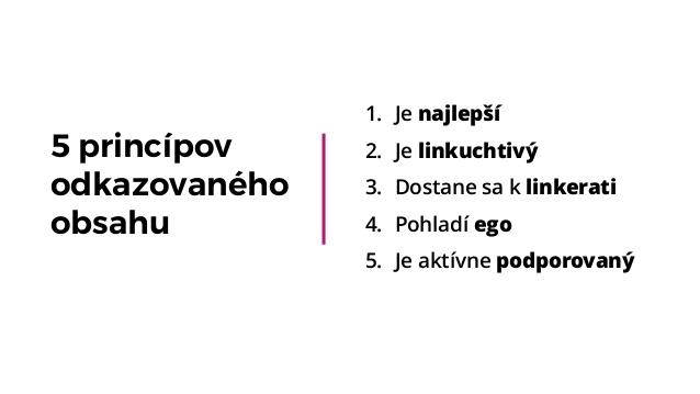 5 princípov odkazovaného obsahu