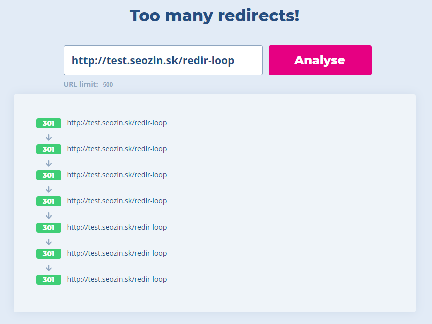 Redirect loop