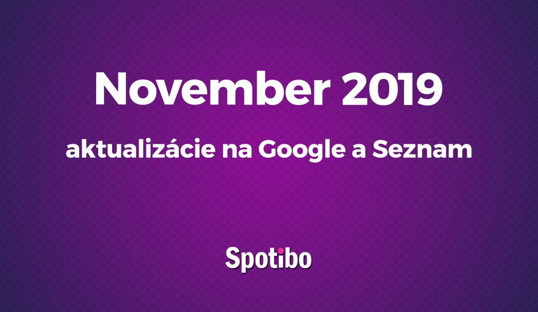 Novembrové novinky v algoritmoch Google a Seznam.cz